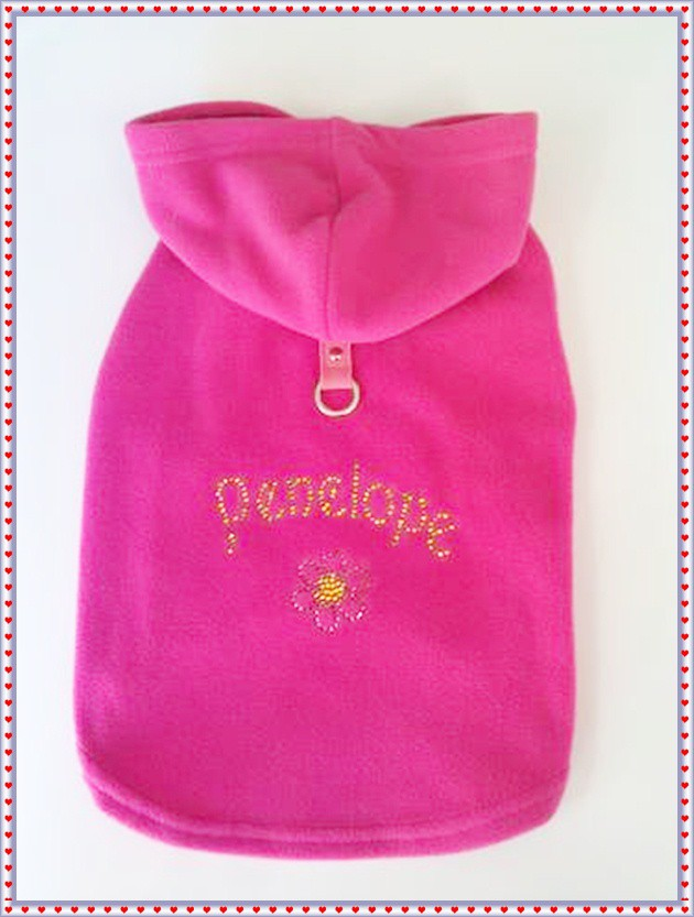 Dog Coat Pink Harness Dog Hoodie Custom Design