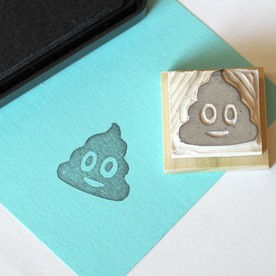 emoji smiley poop stamp