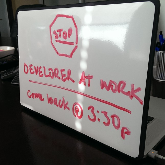 Developer at work