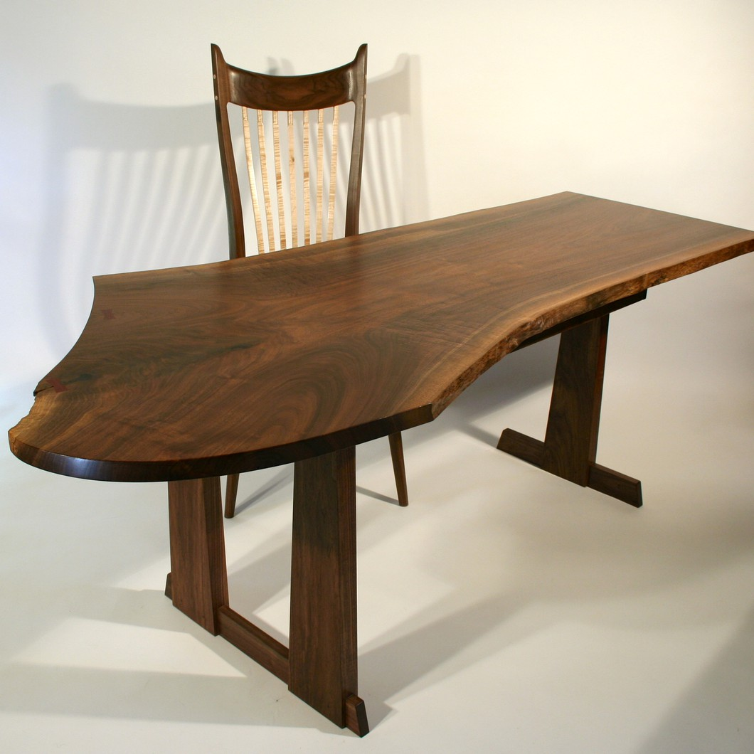 Dining Chair And Desk With Live Edge Timothy S Fine Woodworking