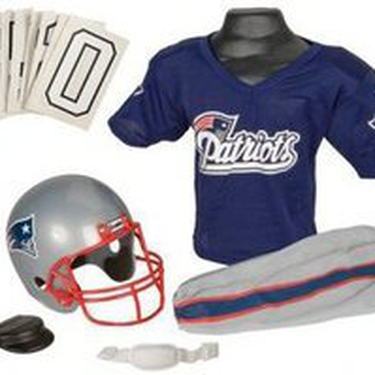 fcbcfd87 New England Patriots Franklin Deluxe Youth / Kids Football Uniform ...
