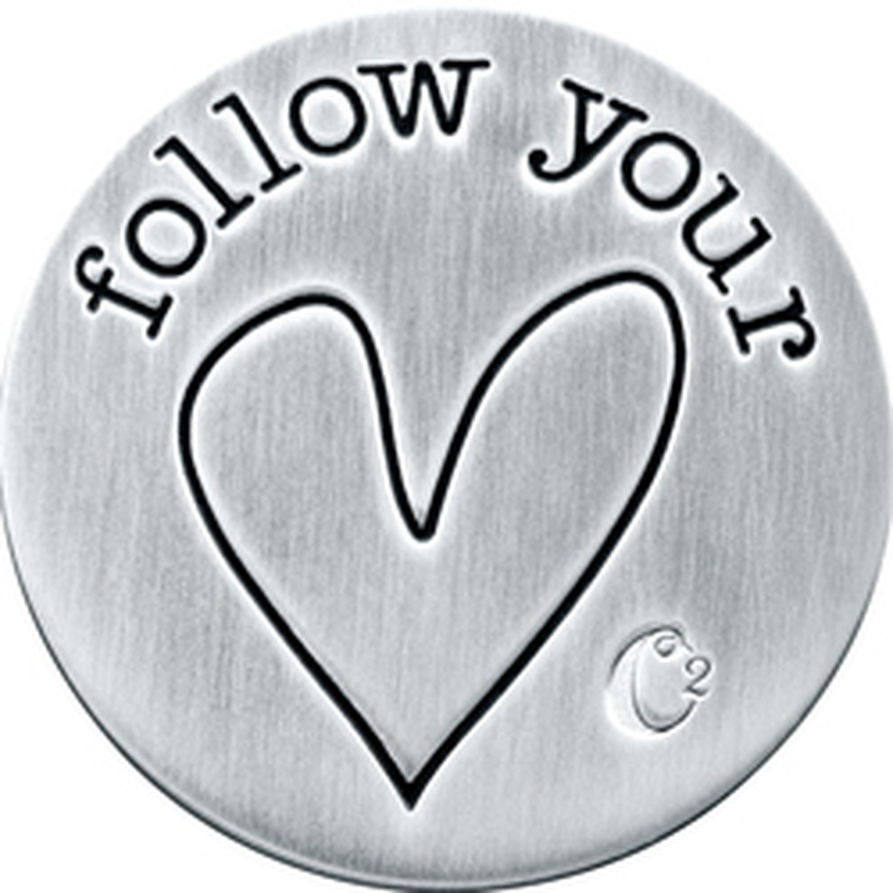 Large Silver Follow Your Heart Plate