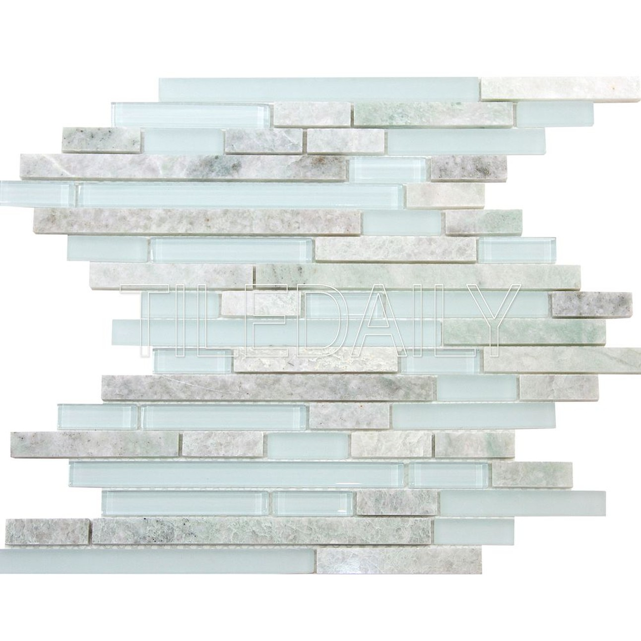 Ming Green Marble And Glass Mosaic Pack Of 10