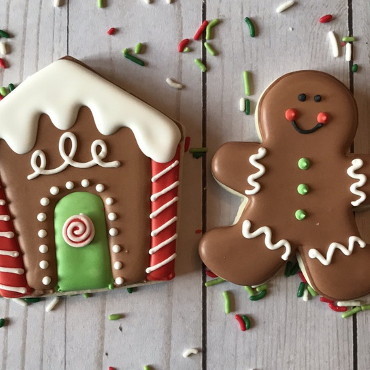Christmas Gingerbread Boxed Set Of 2