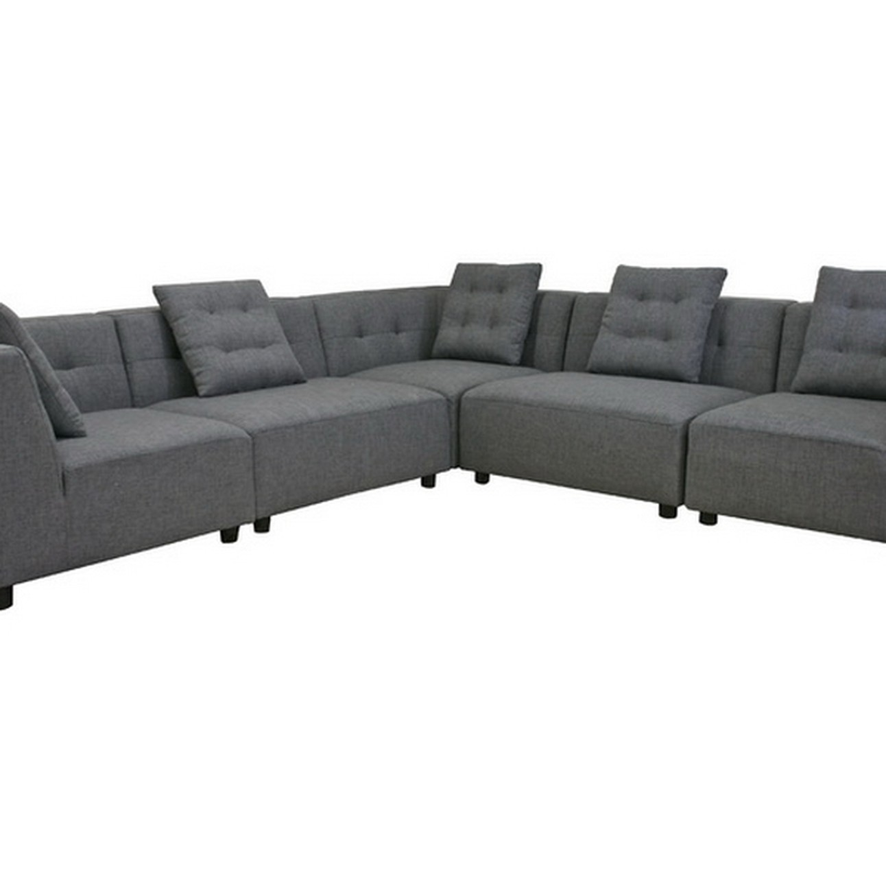 Swell Alcoa Gray Fabric Modular Modern Sectional Sofa Caraccident5 Cool Chair Designs And Ideas Caraccident5Info