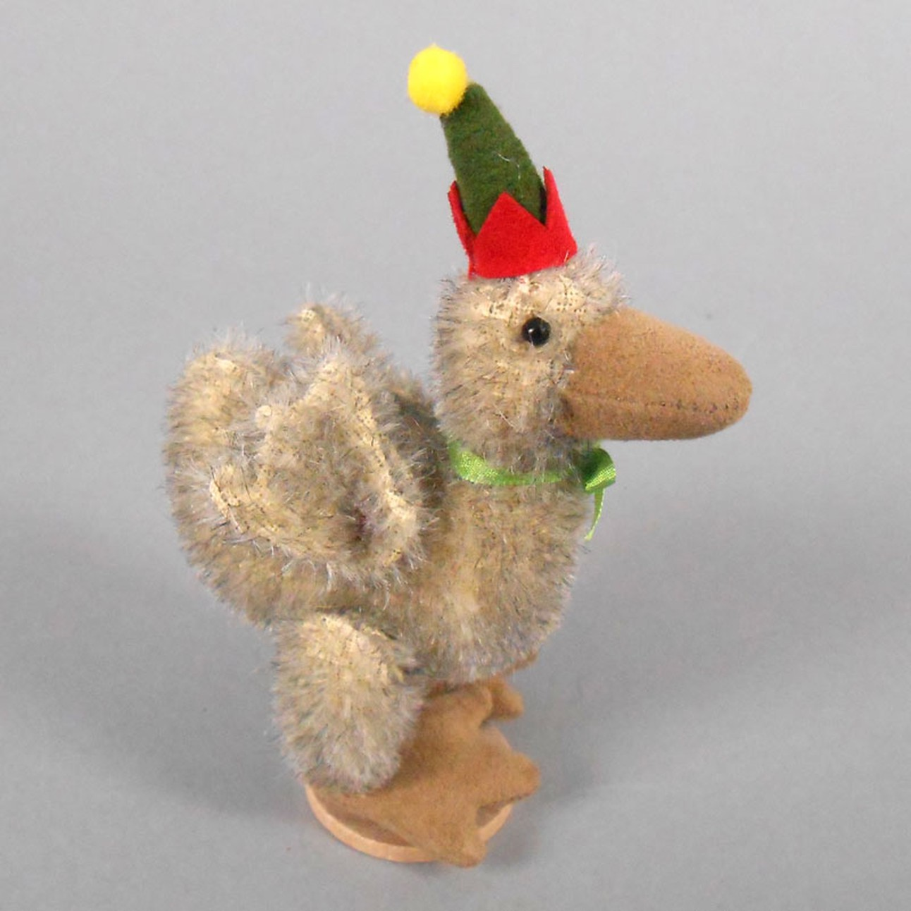 """DEB CANHAM  /""""HENNY PENNY/"""" A MOHAIR DUCK WITH POINTED HAT FOR CONVENTION 2011"""