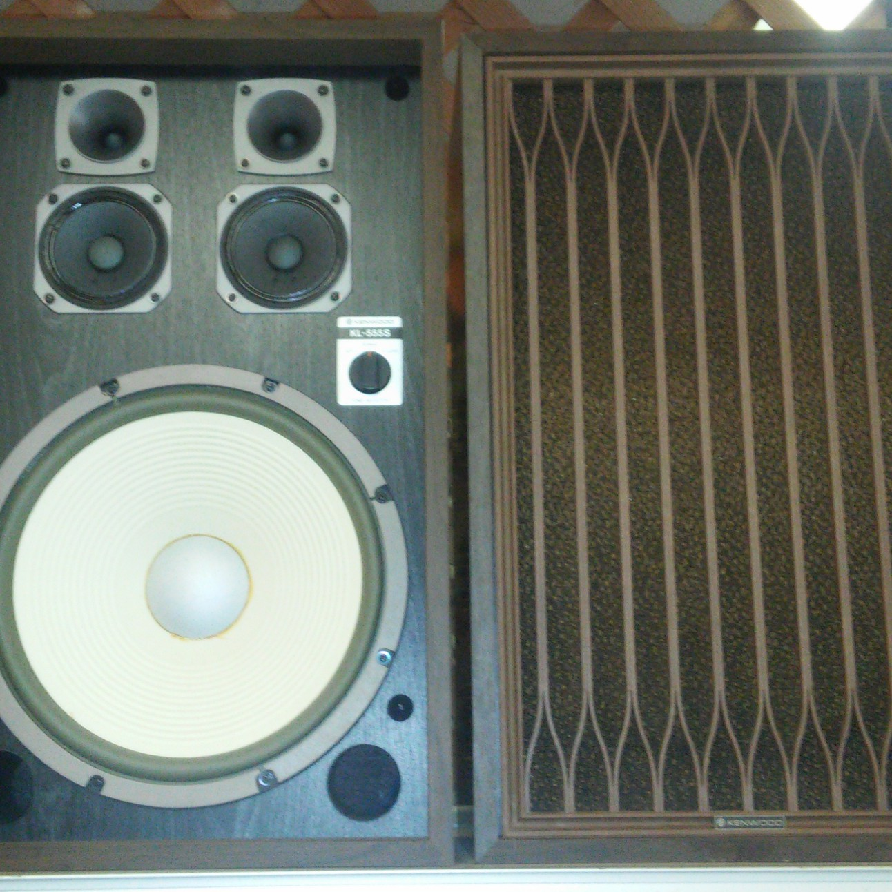 Sold Kenwood Kl 555s Speakers 5 Driver 12 Woofers Horns Made In Japan Stereo Wiring Diagram For Surround Sound