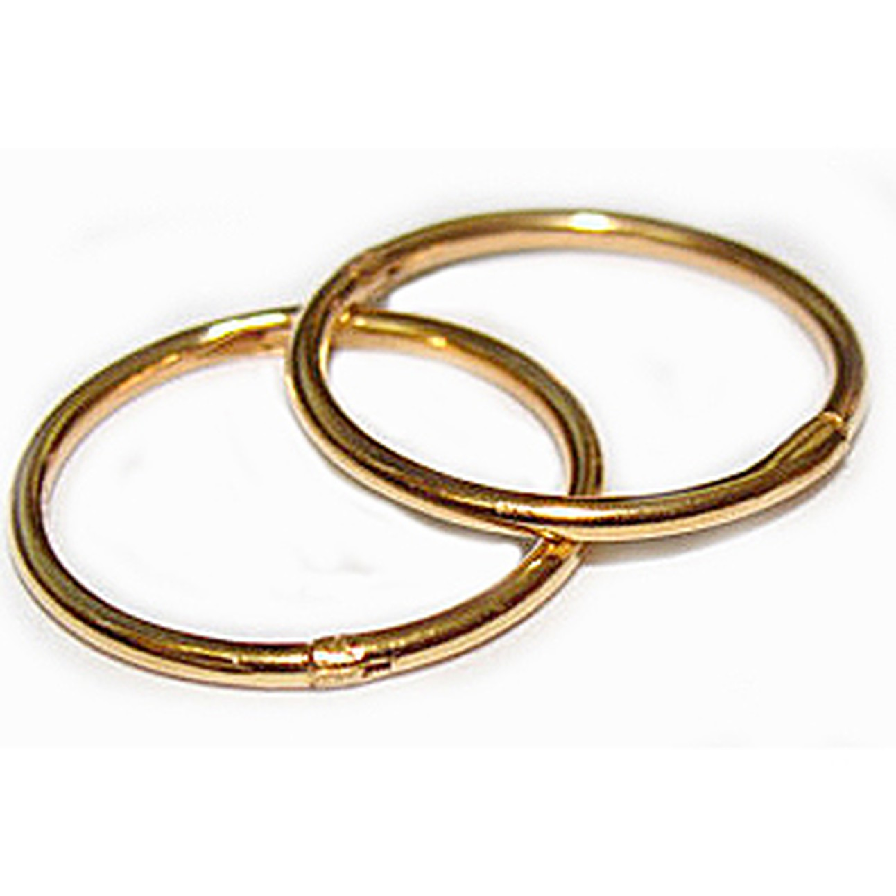 008552b23d32a6 14mm 22K GOLD OVER SOLID STERLING SILVER HINGED HOOP EARRINGS, Easy On &  Off !