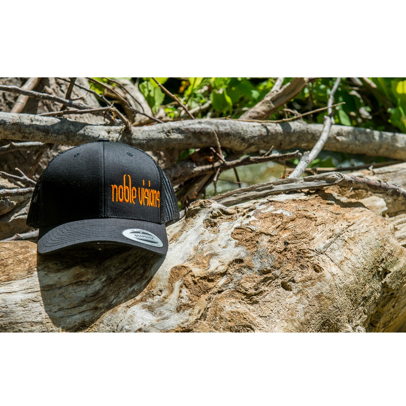 8de9422d578fe Noble Visions Custom Embriodered Black Yupoong SnapBack Curved Brim Classic  Truckers Hat