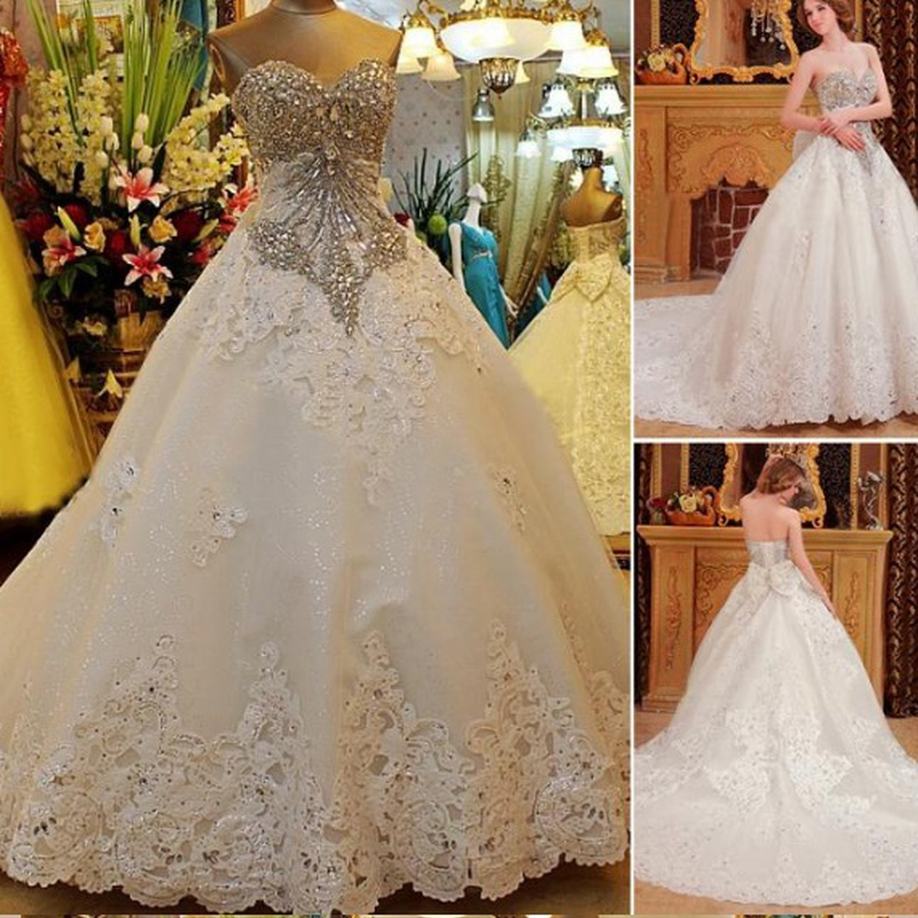Corset Wedding Dresses with Crystals