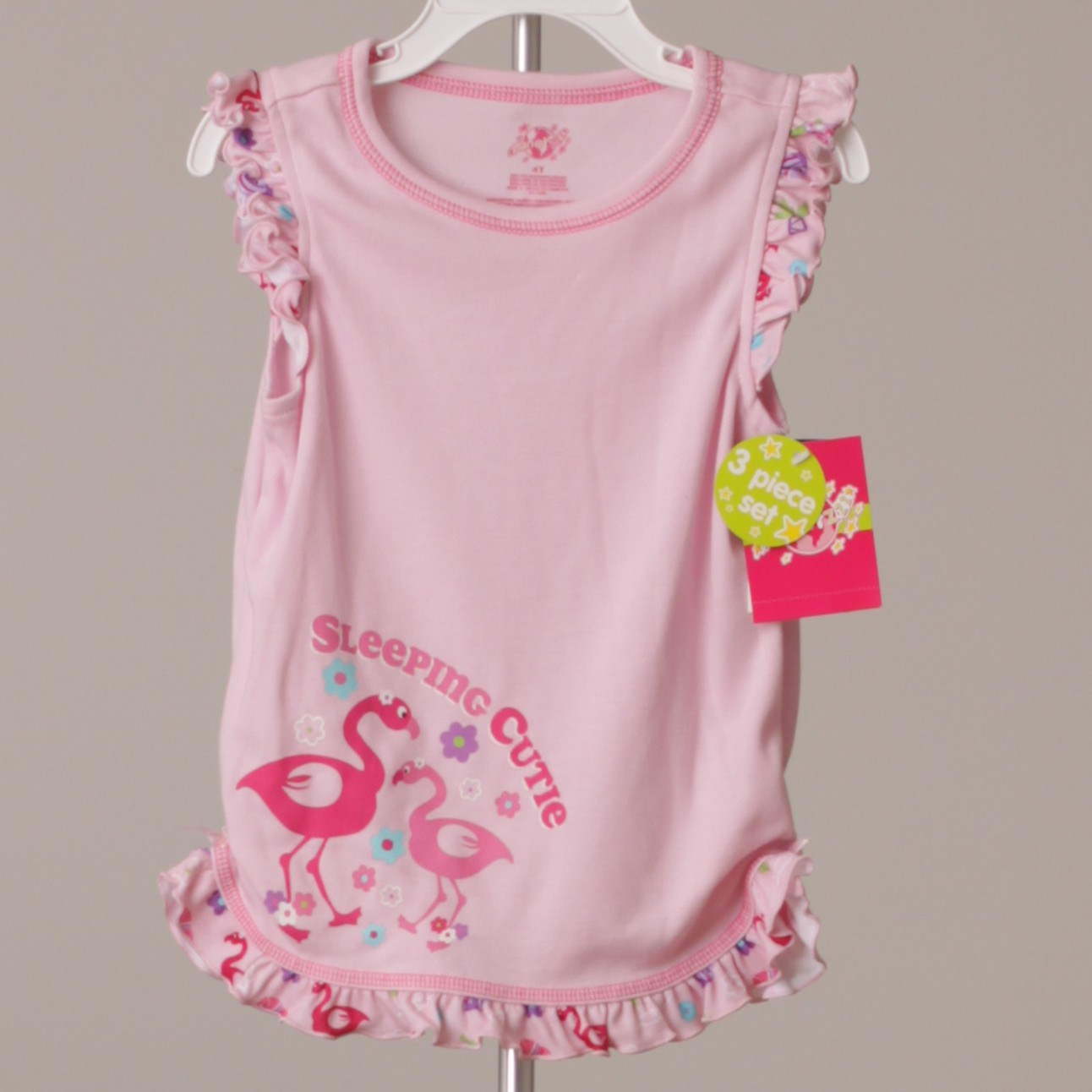 GOOD QUALITY INFANTS 2 PC OUTFIT PRETTY PINK AND GRAY 2T /& 3T BY FISCHER PRICE
