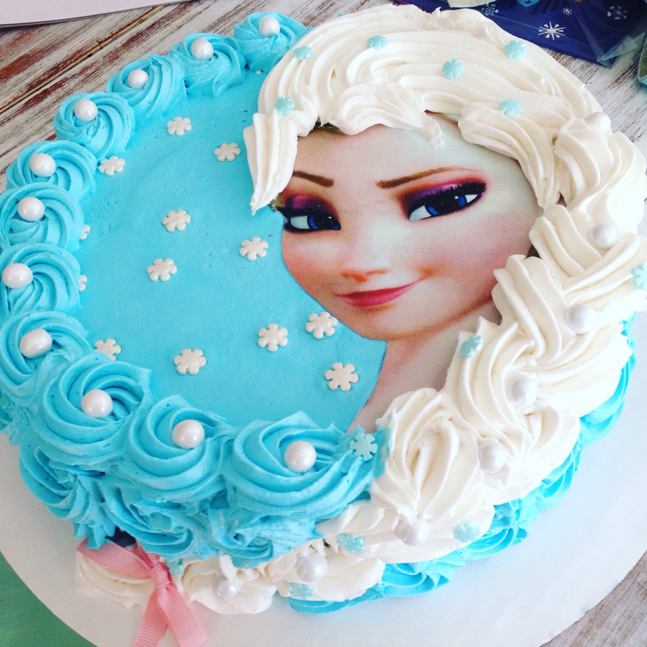 Incredible Frozen Elsa Cake Personalised Birthday Cards Paralily Jamesorg