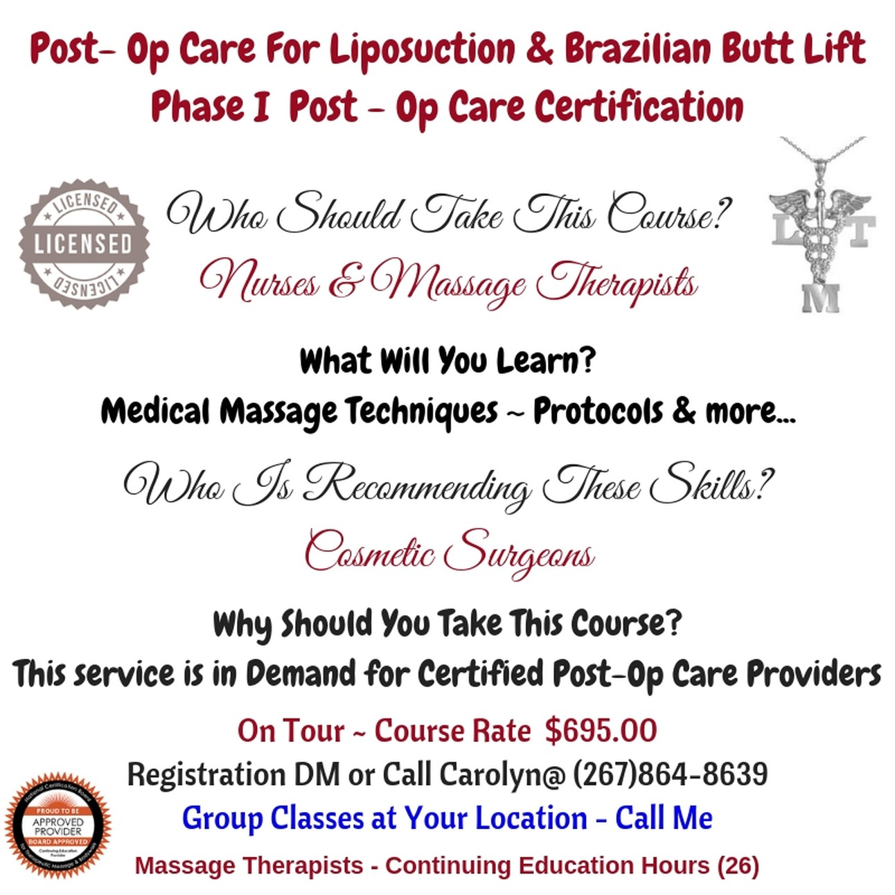 Post-Op Care Surgery Care Provider Certification Course
