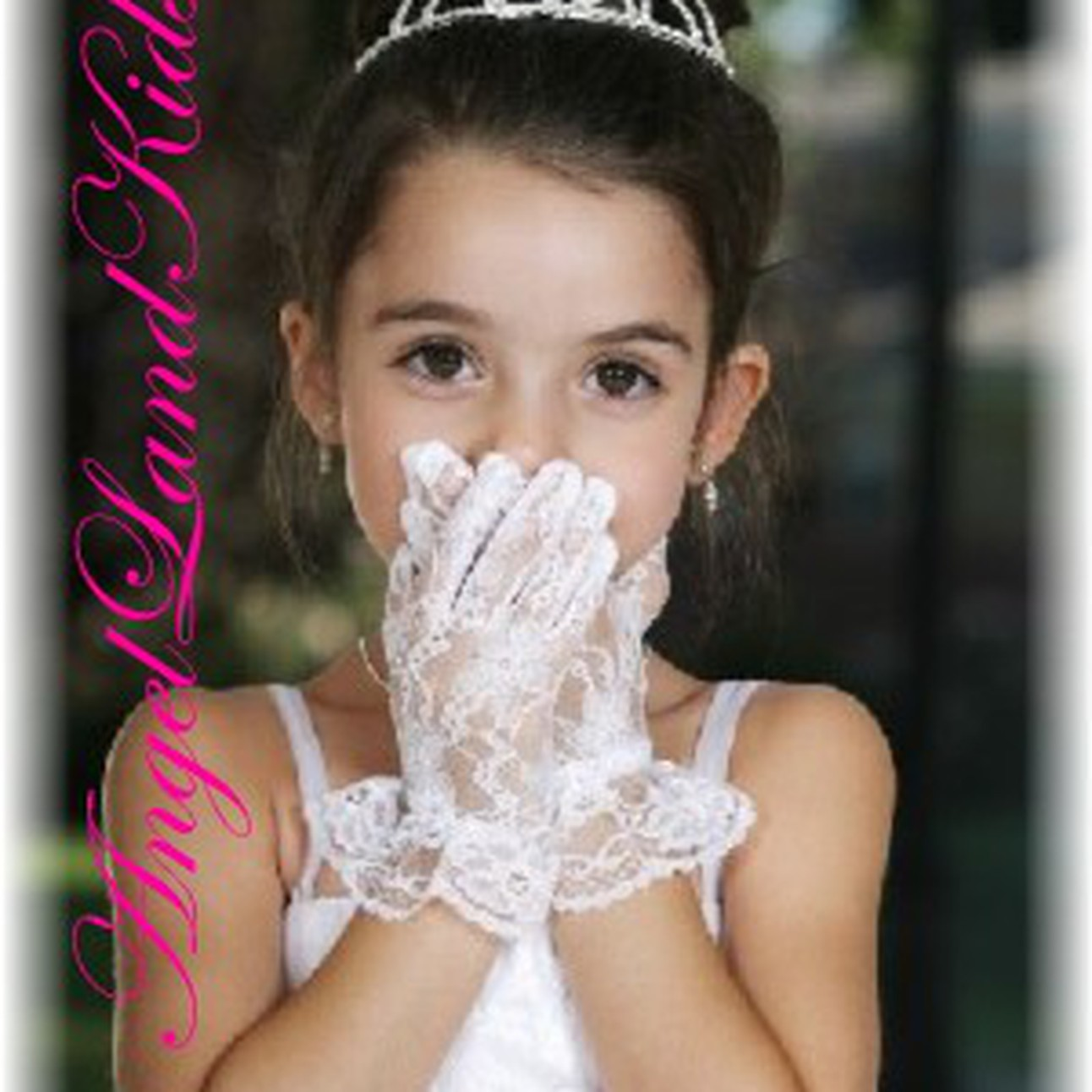 Girl in lace gloves