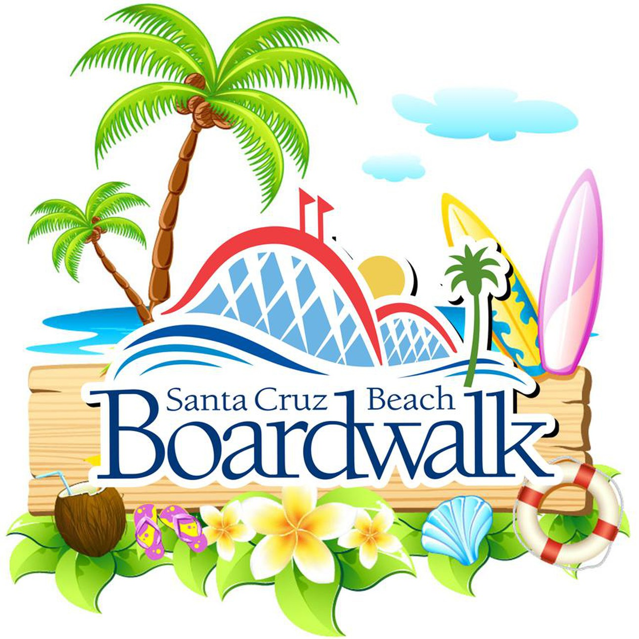 Image result for boardwalk santa cruz clip art