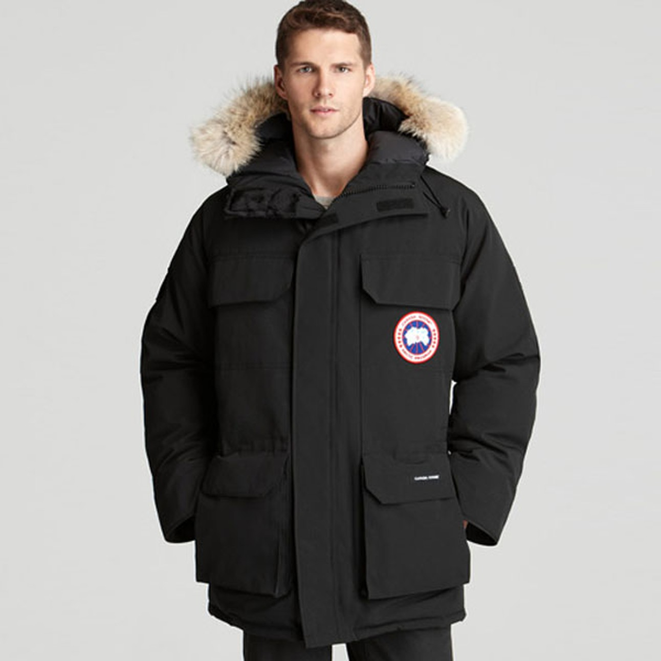 canada goose expedition parka black men's jacket