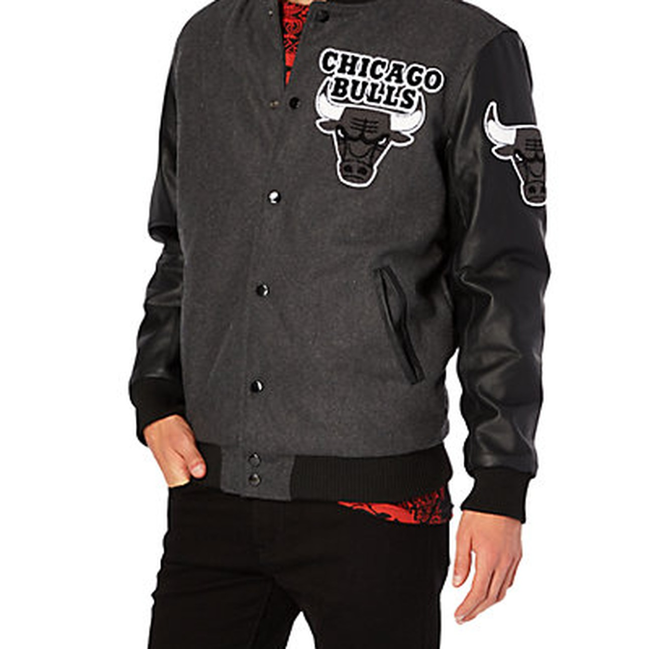 45cfdc2c293061 Chicago Bulls Wool Bomber Jacket