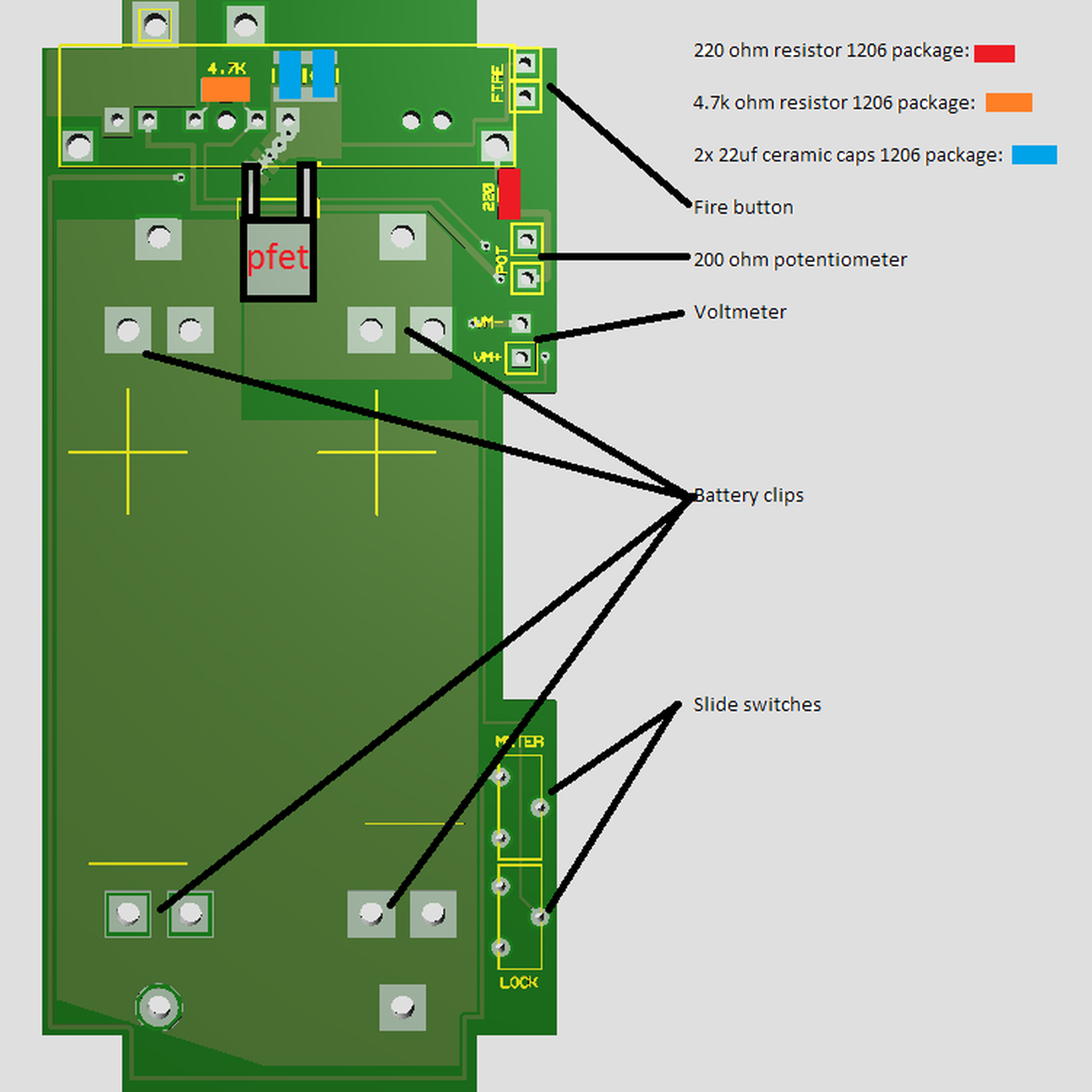 Pcb For Naos Raptor 20a (1590g) Cherokee Wiring Diagram Naos Raptor Wiring  Diagram