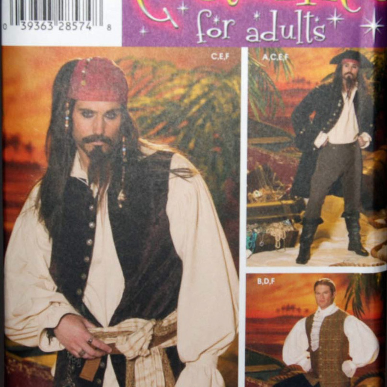 SIMPLICITY 4923 18th Century Waistcoat /& Shirt Pirate Costume Sewing Pattern