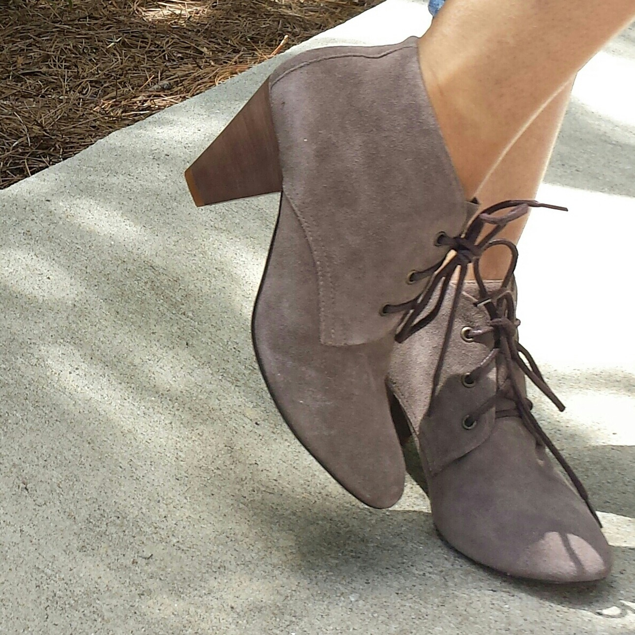f9d3dfe7b33 Steve Madden Suede String up Booties