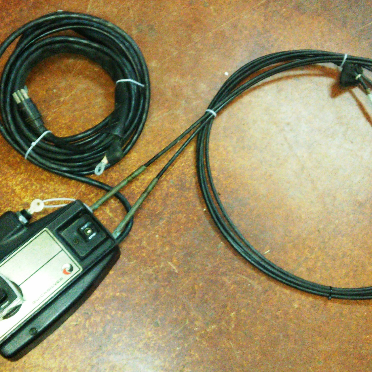 Sold Mercruiser Quicksilver Throttle Shift Control Box Assy W 12ft Wiring Harness Cable Set Key