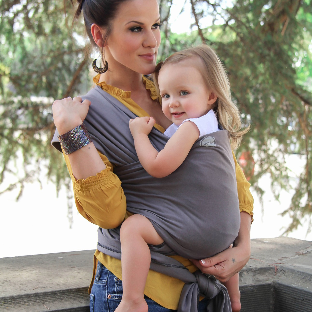 Moby Wrap Original Catton Baby Carrier Slate