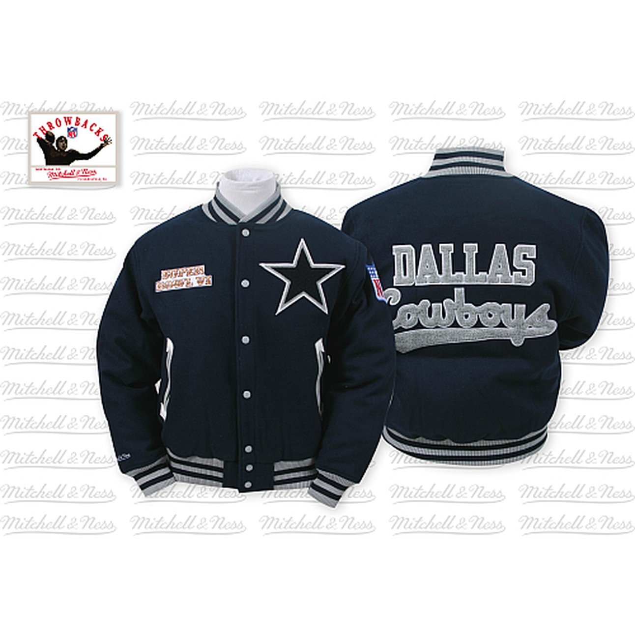 9128c801e034 Mitchell   Ness Cowboys Jacket 100% Wool