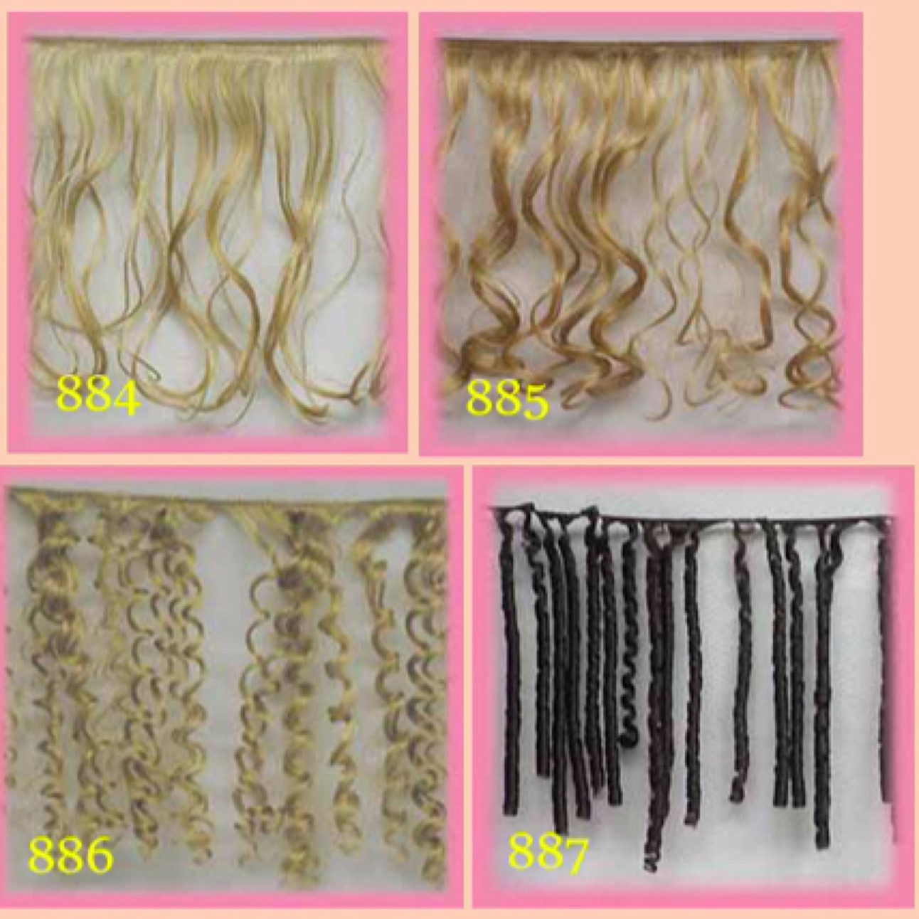 SYNTHETIC MOHAIR WEFT
