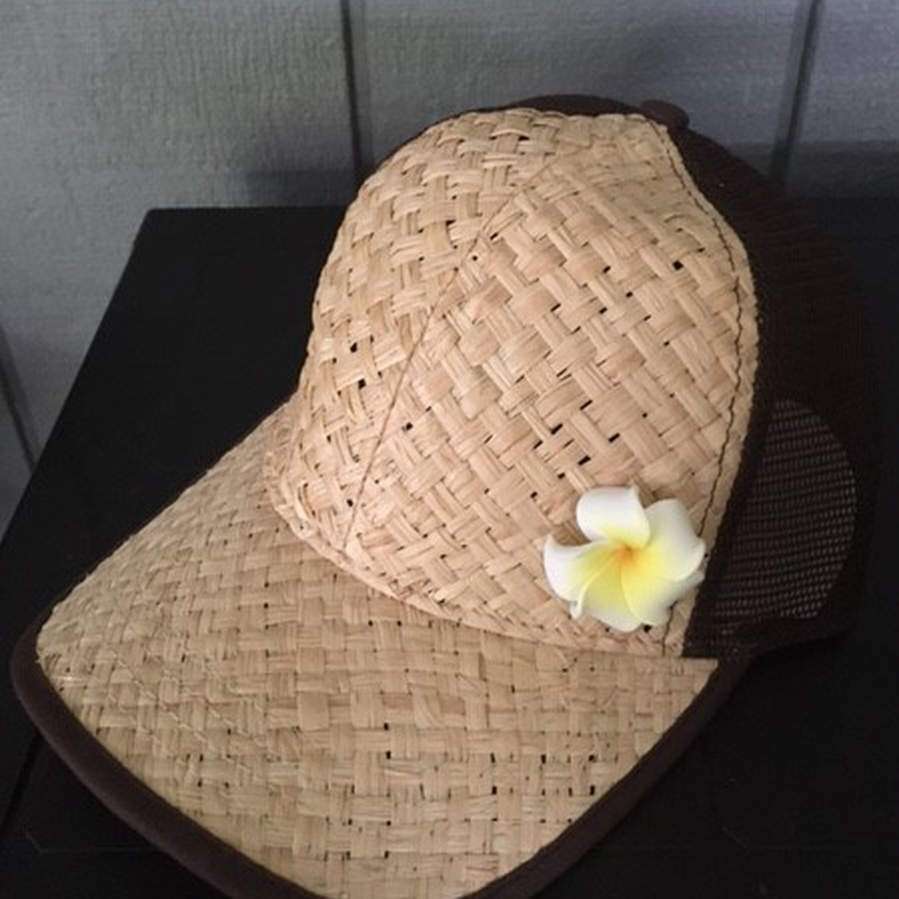 70fbfa3f618 Straw Trucker Hat w flower