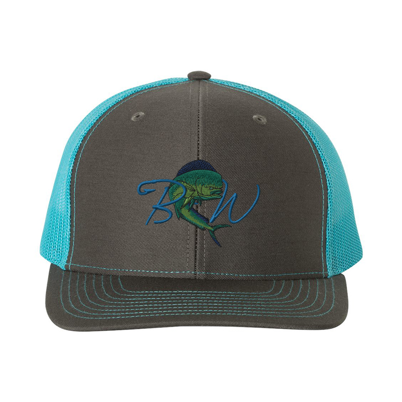 eb962d1c3be7aa Blue Water Snapback Hat (Charcoal/Neon Blue)