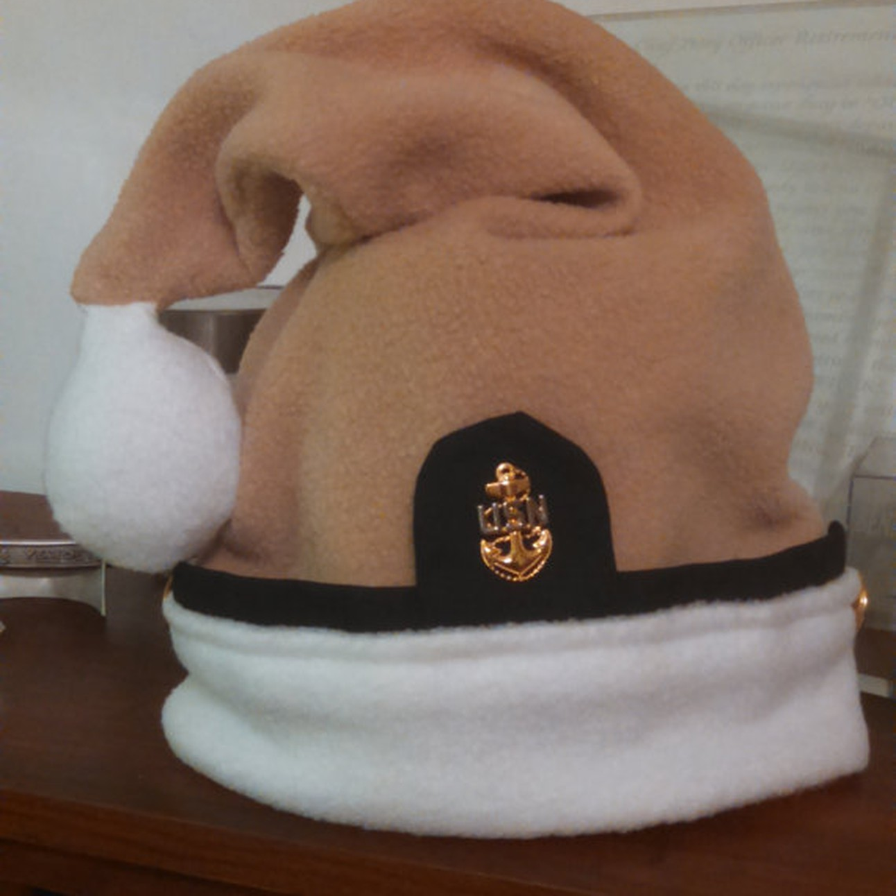 701bac5239812 Navy Chief Santa hat