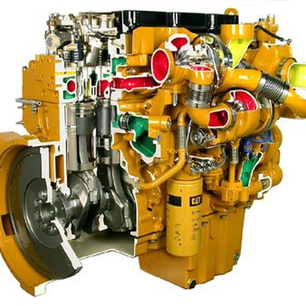 Caterpillar 3406C Diesel Truck Engine Disassembly and Assembly