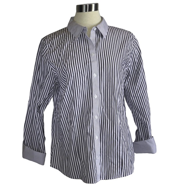 a03bb20763d58 Size Medium Grey Striped Blouse
