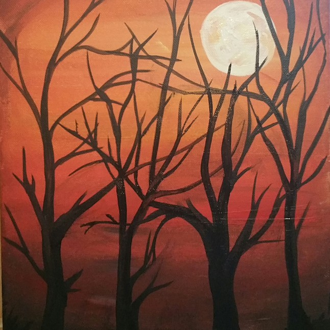 halloween painting workshop - Halloween Pictures To Paint