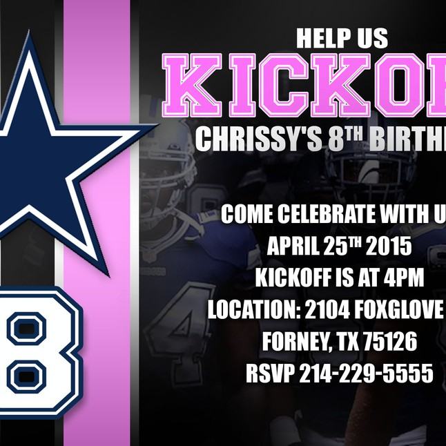 Dallas cowboys birthday invitation filmwisefo