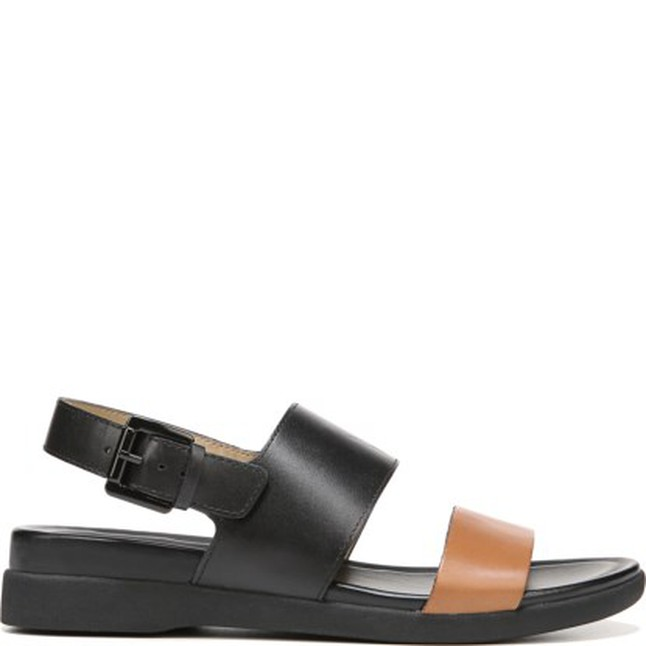 ded03adfa Naturalizer Emory Sandal in Brown Black Leather